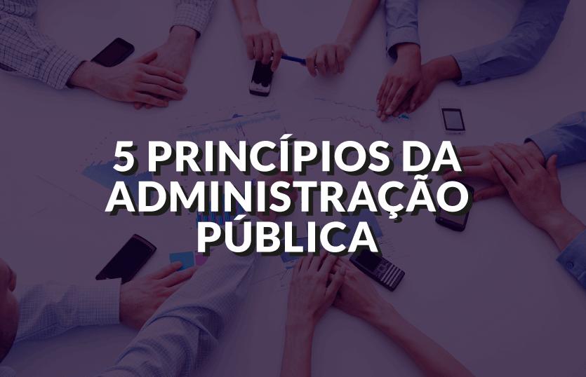 Os 5 princípios da Administração Pública